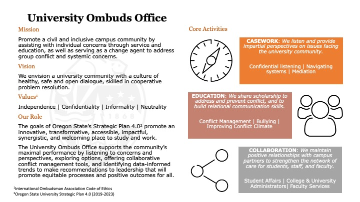 Ombuds Mission Statement